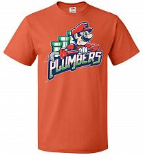 Buy Plumbers Unisex T-Shirt Pop Culture Graphic Tee (L/Burnt Orange) Humor Funny Nerdy Ge