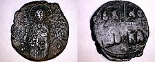 Buy 1034-1041AD Byzantine Class C Follis - Michael IV - AE28 8g
