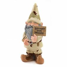 Buy 39627U - Support Our Troops Gnome Figurine Resin Garden Statue Yard Art