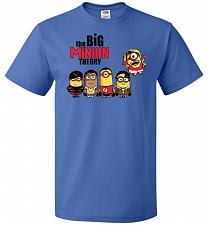 Buy The Big Minion Theory Unisex T-Shirt Pop Culture Graphic Tee (L/Royal) Humor Funny Ne