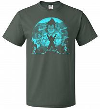Buy Saiyan Sized Secret Unisex T-Shirt Pop Culture Graphic Tee (2XL/Forest Green) Humor F