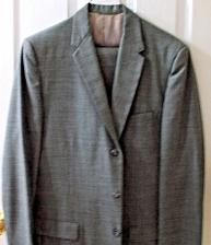 Buy Mens Solid Gray Fashioned Taylored Suit by Sears 2 Pc (38R) 34x31