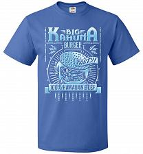 Buy Big Kahuna Burger Adult Unisex T-Shirt Pop Culture Graphic Tee (M/Royal) Humor Funny