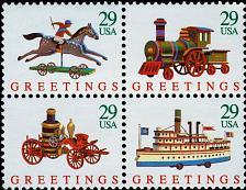 Buy 1992 29c Christmas Toys, Block of 4 Scott 2711-14 Mint F/VF NH