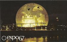 Buy EXPO 67 The Pavilion of The United States USA at night Postcard