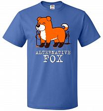 Buy Alternative Fox Unisex T-Shirt Pop Culture Graphic Tee (S/Royal) Humor Funny Nerdy Ge