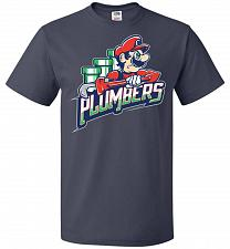 Buy Plumbers Unisex T-Shirt Pop Culture Graphic Tee (2XL/J Navy) Humor Funny Nerdy Geeky