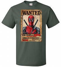 Buy Deadpool Wanted Poster Youth Unisex T-Shirt Pop Culture Graphic Tee (Youth M/Forest G