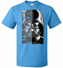 Buy Vader Youth Unisex T-Shirt Pop Culture Graphic Tee (Youth S/Pacific Blue) Humor Funny