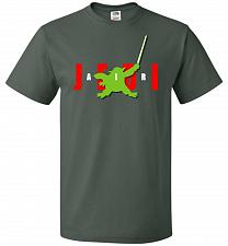 Buy Air Jedi Unisex T-Shirt Pop Culture Graphic Tee (5XL/Forest Green) Humor Funny Nerdy