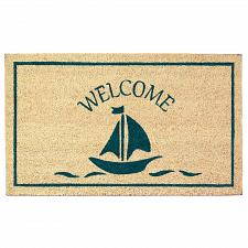 Buy *18121U - Sailboat Welcome Door Mat Enteryway Coir Rug