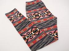 Buy Womens Leggings Sueded Jersey SIZE M NO BOUNDARIES Space Dye Tribal Inseam 28