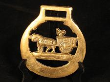 Buy Vintage Horse Brass Horse Man Wagon Tack Bridle Harness Medallion