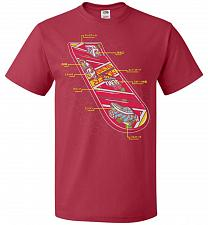 Buy Anatomy Of A Hover Board Unisex T-Shirt Pop Culture Graphic Tee (2XL/True Red) Humor