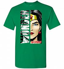 Buy Wonder Woman Unisex T-Shirt Pop Culture Graphic Tee (M/Turf Green) Humor Funny Nerdy