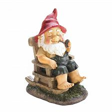 Buy *17750U - Rocking Chair Gnome Garden Statue Yard Art