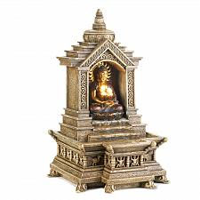 Buy 14773U - Golden Buddha Temple Faux Stone Tranquility Water Fountain