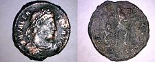 Buy 367-375AD Roman Imperial Valens AE20 - Soldier Spearing Horseman - ASIS Mint