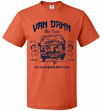 Buy Van Damn Tour Bus Adult Unisex T-Shirt Pop Culture Graphic Tee (2XL/Burnt Orange) Hum