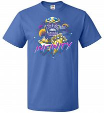 Buy Infinity Unisex T-Shirt Pop Culture Graphic Tee (M/Royal) Humor Funny Nerdy Geeky Shi