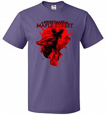 Buy A Nightmare On Maple Street Unisex T-Shirt Pop Culture Graphic Tee (M/Purple) Humor F
