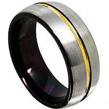 Buy coi Jewelry Titanium Two Tone Wedding Band Ring