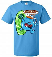 Buy Meseeks Man Unisex T-Shirt Pop Culture Graphic Tee (2XL/Pacific Blue) Humor Funny Ner