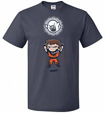 Buy Spirit Bomb Unisex T-Shirt Pop Culture Graphic Tee (5XL/J Navy) Humor Funny Nerdy Gee