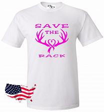 Buy Cancer Save The Rack T-shirt Survivor Support Strong Breast Cancer Awareness