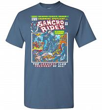 Buy Born Leader Samcro Rider Unisex T-Shirt Pop Culture Graphic Tee (L/Indigo Blue) Humor