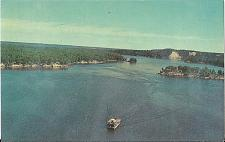 Buy RIVER QUEEN AU SABLE HIGH BANKS HURON FOREST POSTCARD MICHIGAN