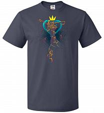 Buy Shadow Of The Hearts Unisex T-Shirt Pop Culture Graphic Tee (4XL/J Navy) Humor Funny