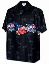 Buy Men's USA Hot Rod Hawaiian Shirt Border Design #440-3942