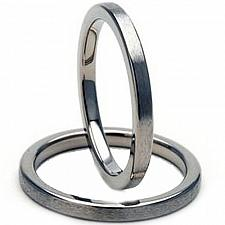 Buy coi Jewelry Titanium Pipe Cut Wedding Band Ring - JT964(Size US7)