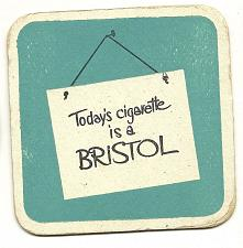 Buy TODAY'S CIGARETTE IS A BRISTOL BEER COASTER MAT BAR