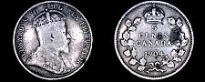 Buy 1904 Canada 5 Cent World Silver Coin - Canada - Edward VII - Lot#9904