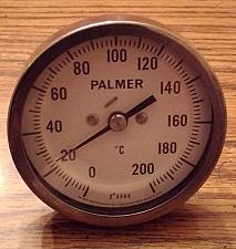 Buy Palmer Instruments Celsius Temperature Gauge :: 2 Degree SUBD. :: FREE Shipping