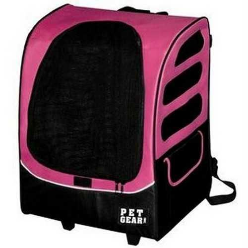 Pet Gear I-GO Plus Traveler Pet Carrier Car Seat Backpack Pink