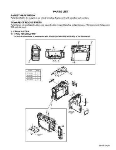 JVC GR-D239E par Service Schematics by download #155577