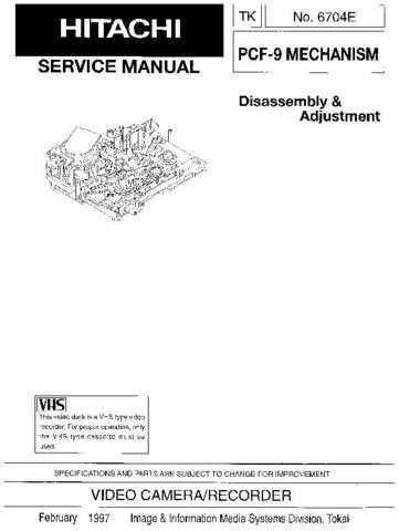 HITACHI No 6704E Service Data by download #147364
