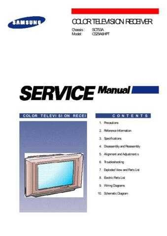 MODEL SCT53A Service Information by download #124456