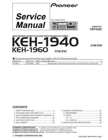 PIONEER C2425 Service Data by download #148906