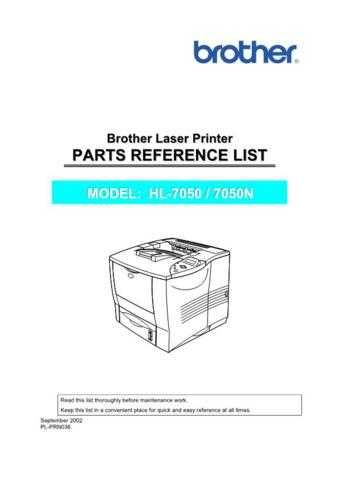BROTHER HL-5030, 5040, 5050, 5070N SERVICE MANUAL Service Manual by download #15