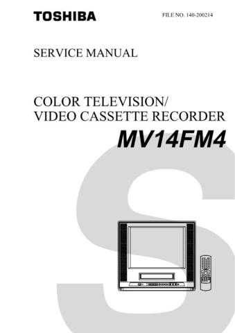 TOSHIBA MV14FM4 SVCMAN Service Schematics by download #160245