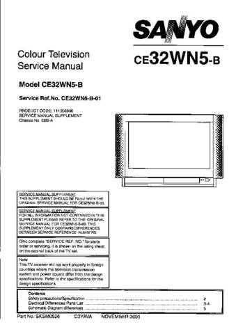 Sanyo CE32WN5-B-01 Manual by download #173298