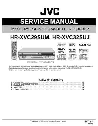 JVC HR-XVC29SUM Service Schematics by download #155969