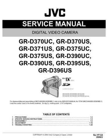 JVC GR-D395US Service Schematics by download #155603