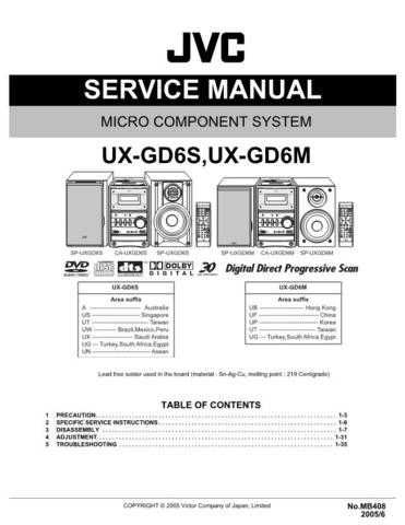 JVC UXG66 Service Manual by download #156603
