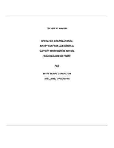 HEATHKIT HP8640B Service Schematics by download #155194