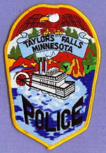 TAYLORS FALLS MINNESOTA Police Patch STEAM RIVERBOAT